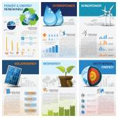 Power And Energy Renewable Chart Diagram Infographic — Stock Vector