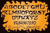 Halloween magic alphabet. Mystic font. — Stock Vector
