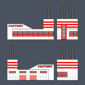 Factory in parallel projection. — Stock Vector