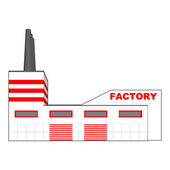 Factory in perspective projection. — Stock Vector