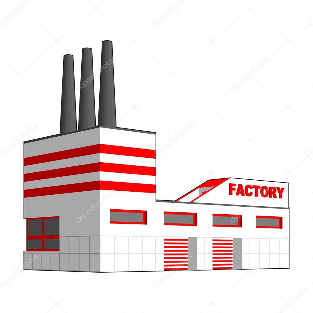 Factory in perspective projection