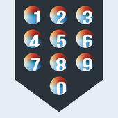 Numbers set. Vector. — Stock Vector