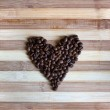 heart of kaffeebohnen — Stockfoto #56793733