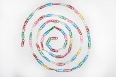 Circle made of paper clips — Stock Photo