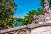 Bridge in the park of Laxenburg castle, Austria — Stock Photo