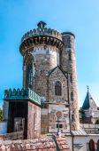 Schloss Turm der Franzensburg in Laxenburg, Österreich — Stockfoto