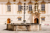 Old fountain at Zwettl Abbey, Austria — Stock Photo