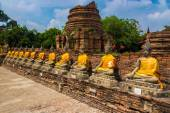 Budhha chedis in Ayutthaya — Stock Photo