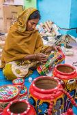 Annual Handicrafts event in India — Stock Photo