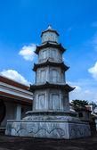 Marble chinese pagoda at Wat Intaram. — Stock fotografie
