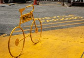 Bicycle parking. — Stock Photo