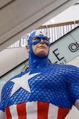 Captain America model  in The Superhero Past-Present Fair. — Stockfoto