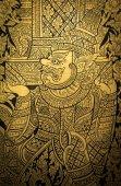 Giant, Thai pattern art on temple door. — Stock fotografie