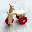 Wooden bicycle toy. — Stock Photo #61634033