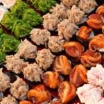 Variety of japaneese sushi rolls — Stock Photo #72568783