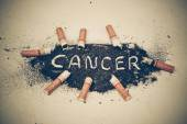 Cigarette ash with no more word — Stock Photo