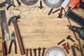 Many types of tools — Stock Photo