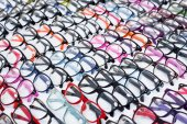 Colorful eyeglasses assortment — Stock Photo