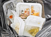 Foam and plastic food containers — Stock Photo