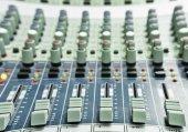 Audio mixing console — Stock Photo