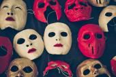Diferentes tipos de máscaras — Fotografia Stock