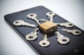 Mobile phone security breach — Stock Photo