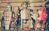 Old classic robot — Stock Photo