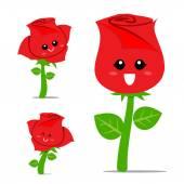 Rose Cartoon 001 — Stok Vektör