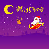 022-Merry Christmas santa and night background 002 — Stock Vector
