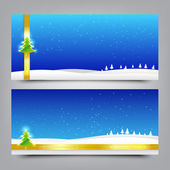 033-Merry Christmas  banner Collection of greeting card 007 — Stock Vector