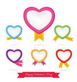 Hart van dag van de Valentijnskaart van liefde 0001 — Stockvector