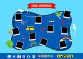 Travel infographic — Stock Vector