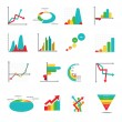 Set of business marketing dot bar pie charts diagrams and graphs — Stock Vector #73337817
