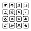 Set of packing symbols icon for box isolated on white background — Stock Vector #76103183
