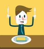 Enjoy eating Smart phone menu. — Stock Vector
