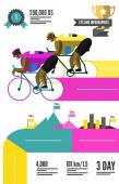 Cyklist racing infographics. — Stockvektor