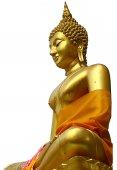 Gold statue buddhism — Stock Photo