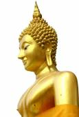 Golden thai buddhism statue — Stock fotografie