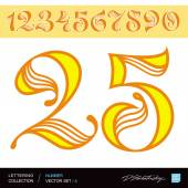 NUMBER 1 2 3 4 5 6 7 8 9 0 — Stock Vector