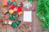 Christmas gift boxes — Stock Photo