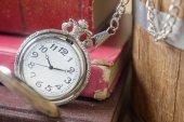 Antique pocket clock — Stock Photo