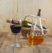 Whisky and wine — Stock Photo