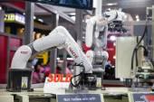 An industrial robot hands — Stock Photo