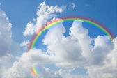 Sky with a rainbow — Stock Photo