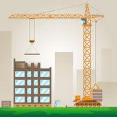 Tower crane — Stock Vector