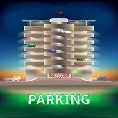 Parking night — Stock Vector