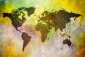 Old world map illustration — Stock Photo