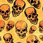 Skulls on texture background — Stock Vector