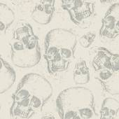 Skulls on texture background — Vector de stock