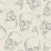 Skulls on texture background — Stockvektor